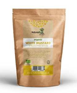 Natures Racine Bio Moutarde (Blanc) Graines de–Superfood Complément alimentaire   non OGM   Microgreen Sprouts   Jardin plantation   Légumes de jardinage 500g