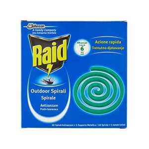 Raid spirales anti-moustiques avec support métallique–6boîtes de 10pièces [60pièces]
