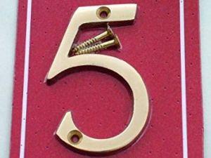 Securit Tableau noir en Laiton poli 3 porte et portail '5'S2505 chiffres