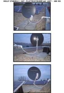 Spécial sATSCHÜSSEL-support de 4,5 mm de diamètre en acier pour plaques pLATTENSTÄNDER allemand 40 x 40 cm pour tube de 80 mm-acier-schrägrahmen 4,5 µ feuerverzinkung 80 mm et revêtement en bade-wurtemberg-holly ® produits sTABIELO ®-holly-sunshade ®-plaque-livré sans comprise dans le prix d'un (69 eUR) –