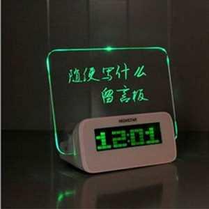 Tocoss (TM) Message Board Horloge num¨¦rique Temp¨¦rature d'alarme calendrier minuterie bleu vert clair