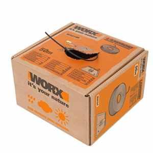 Worx WA0184 Fil de délimitation pour tondeuse Landroid Noir 50 m