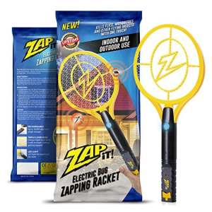 Zap-it! Bug Zapper–Rechargeable Mosquito, Tapette/Killer et Bug Zapper Raquette–4000Volt Chargement USB, Ultra Lumineux Lumière LED pour Zap dans Le Noir