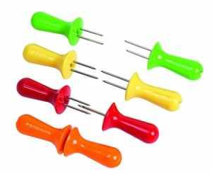 Zyliss ZE40001 Set de 4 pics à maïs jaune/orange/rouge/vert