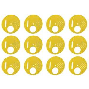 12pcs Disque 4 Positions en Plastique 6.8cm pour Apiculteur Apiculture Nucléi