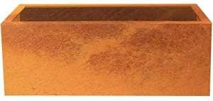 'Acier de plate-bande surélevée/Pot de Lotte en acier Corten 120x 40, profondeur 50cm, modulaire | «Palatino Exclusive Line