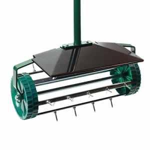 Aérateur de gazon–Rouleau à pointes de haute qualité–Scarificateur