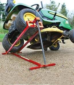 Lève tracteur Tondeuse | Lève tondeuse télescopique – Gain de place 30% | Supporte 400 kg max | NOUVEAU