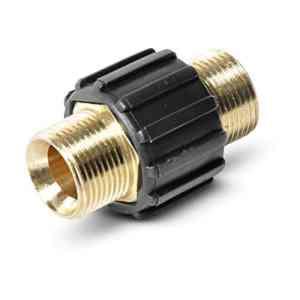 Raccord de tuyau PremiumPlus pour tuyaux haute pression Kärcher et Kränzle HD & HDS avec filetage M22 comme 4.403-002.0 de ONE! – Fabriqué en Allemagne