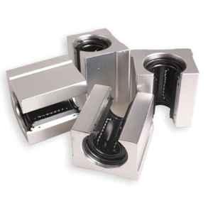SODIAL 4x Bloc coulissant en Aluminium lineaire, Bloc coulissant de motion router en C Argent (SBR20UU,20mm)
