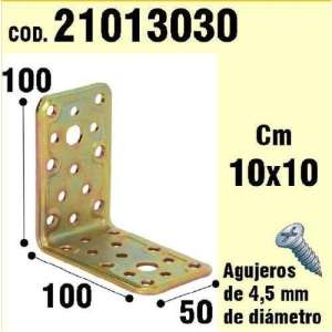WOLFPACK 21013030 Support pour Angle Bois 50 x 100 x 100