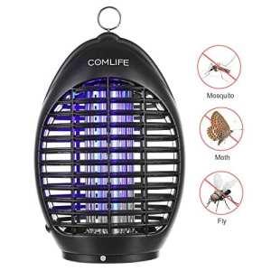 COMLIFE Lampe UV Anti Moustique Insectes – 360° Tueur de Moustique, Piège à Insectes, Sans Produits Chimiques, Pour la Maison, Bureau, Jardin et Camping en Plein Air