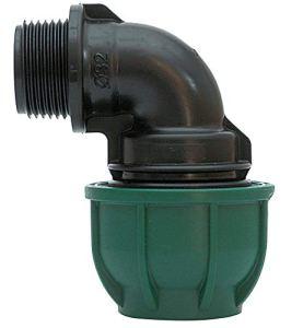 Compression Coude à 90der.Fil.M.–16x 3/4irritec Vert