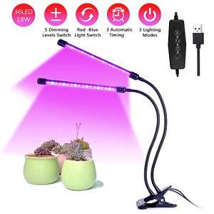 Cotify 18W Lampe de Croissance pour Plantes avec Lampe de Croissance Flexible à 360°