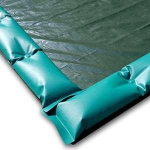 Couverture d'hiver avec tubes résistant au vent – pour piscine 25×12,5