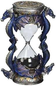 Design Toscano Dragon de la Porte de la Mort Statue de Sablier Décor Gothique, 15 cm, polyrésine, palette complète de couleur