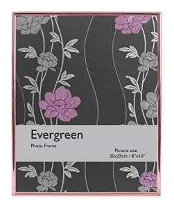 Evergreen Bord Fin de Cadre pour Photo 20,32x 25,4cm, Argent, Or Rose, 20,32x 1x 25,4cm, Argent, Rose Gold, 20.32 x 1 x 25.4 cm