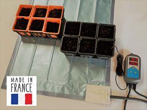 Horti France Tapis Chauffant accélérateur de Germination pour semis, Plants avec Thermostat