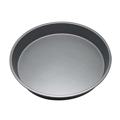 Kentop Pizza Plaque de Cuisson Ronde Set avec Acier au Carbone et Revêtement Anti-Adhésif, Noir, 11 Zoll