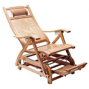 KTYXGKL Chaise À Bascule en Bambou Pliante Chaise Berçante Vieux Homme Chaise Loisirs Chaise Balcon Adulte Sieste Chaise Longue Chaise Pliante (Couleur : C)