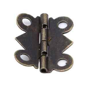 KYMLL Charnières et vis Charnières très Robustes en Laiton Massif Vintage Bronze Antique Armoire à Portes de Placard à charnière Charnières