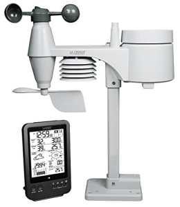 La Crosse Technology WS1650 Station Météo Professionnelle avec capteur 5 en 1 – Noir