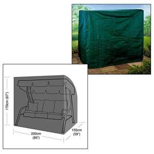 Parkland Housse de protection de balancelle de jardin 3 places – Ultra-résistante et imperméable, à fermeture Éclair