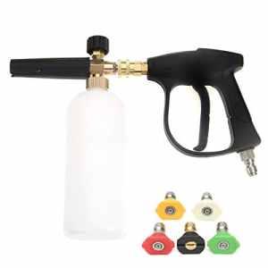 Pistolet à rondelle haute pression NUZAMAS avec 5 buse d'eau Tip et kit de bouteille de loup de neige de 1L pour châssis de chantier de voiture Nettoyeur de Windows Connecteur rapide