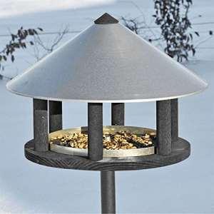 Voss.garden Mangeoire pour Oiseaux « Odense », Maisonnette en Design Danois Exclusif, 155 cm de Haut, diamètre 40 cm