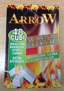 Allume-feu Arrow 48Cubes Idéal pour barbecue poêles et cheminées 6Paquets