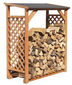 Bûcher en treillis de bois