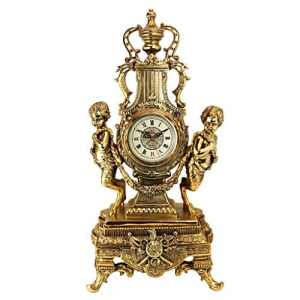Design Toscano Horloge Beaumont Grand Château en faux or antique