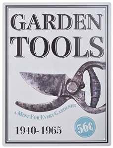 Fallen Fruits Outils Pancarte de Jardin en métal