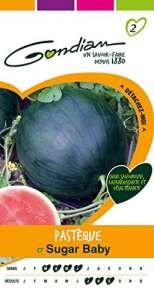 Gondian 153190 CP 2 Semences Pastèque Sugar Baby Vert 1 x 8,1 x 16 cm