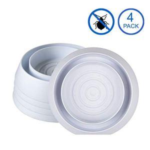 Hexone Pièges Punaises De Lit (x4 pièces) – Traitement Choc Anti Punaise Foudroyant Non Chimique Détecteur d'Insectes + Ebook Livre Guide Inclus (4, Blanc)