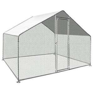 IDMarket – Enclos poulailler 6 m² Parc grillagé 3X2m Acier galvanisé