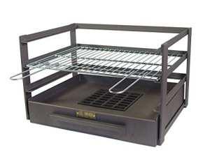 IMEX EL ZORRO 71474.0tiroir Barbecue avec grille zinguée, noir, 46x 41x 35cm