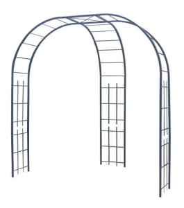 Louis Moulin Tuteurs Tube carré Fond d'allée, Ardoise, 147x245x250 cm