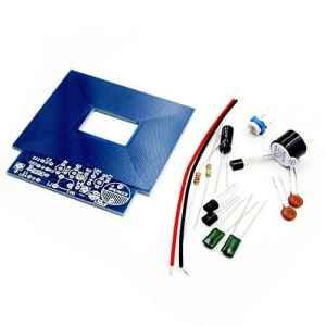 Pudincoco Détecteur de métaux Simple Détecteur de métaux Production électronique DC 3V 5V Kit DIY Matériel respectueux de l'environnement (Bleu)