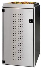 REINKEDESIGN Boîte de Rangement pour Poubelle Boxxi avec Toit de Plantation en Acier Inoxydable V2A 1 x 120 l