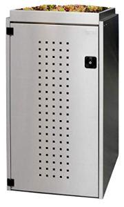REINKEDESIGN Boîte de Rangement pour Poubelle Boxxi avec Toit de Plantation en Acier Inoxydable V2A 1 x 240 l