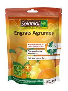 Solabiol SOAGY500 Engrais Agrumes Action Longue Durée   Utilisable en Agriculture Biologique, 500 GR