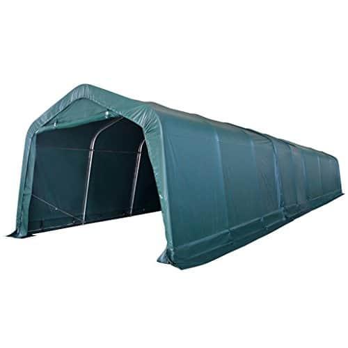 Tuduo Portable Tente de bétail en PVC en Acier galvanisé Vert foncé ...