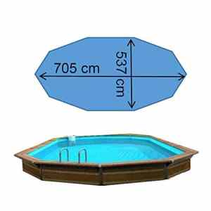 Waterclip Piscine ithaque 7,05 x 5,37 x 1,47 m