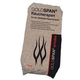 15 kg des copeaux de fumage GOLDSPAN – Spécial pour fumage avec un goût authentique – grains 10/40 (3,0 – 5,0mm)