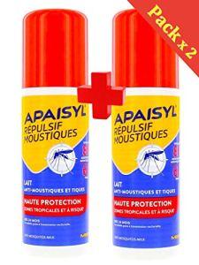 Apaisyl – Anti-moustiques Haute Protection Répulsif Moustiques Haute Protection 2 x 90 ML