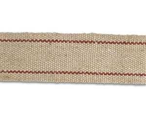 Chapuis B/GJ220 Sangle jute – Largeur 85 mm – Bobine de 20 m – Ecrue rayée rouge
