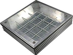 EcoGrid TSL-Pro-Line-80 Couvercle encastrable Triple en Aluminium 700 x 700 x 61 mm