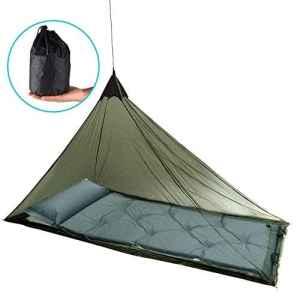 Eklead Moustiquaire – Moustiquaire extérieure pour Lit de Camping Simple, 250 Trous par Pouce carré, compacte et légère pour Le Camping de Voyage avec 4 Chevilles et 1 Sac de Transport