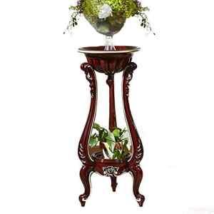Etagèrede Fleur Pot Fleur étagère Style européen Solide Bois Atterrissage Luxueux Support de Pot de Fleur Châssis épaissi Tingting (Couleur : Brown-95, Taille : One Size)